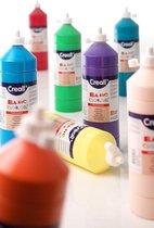 Plakkaatverf Basic waterbasis 6 flacons in hoofdkleuren 1 liter