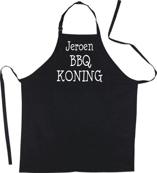 Mijncadeautje Luxe schort BBQ Koning met voornaam