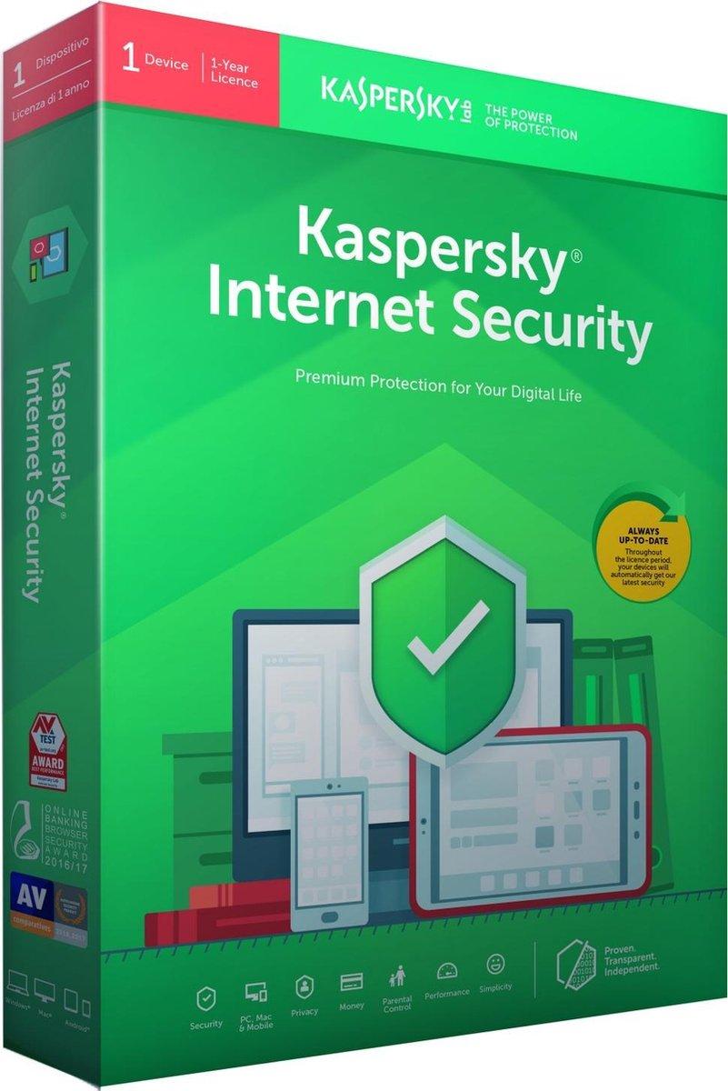 Kaspersky Internet Security - Multi-Device - 1 Apparaat - 1 Jaar - Nederlands / Frans - Windows / Ma