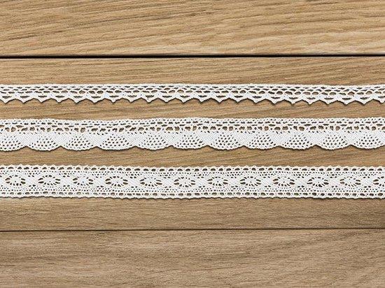 Katoen kant stof wit 3 x 1,5 meter
