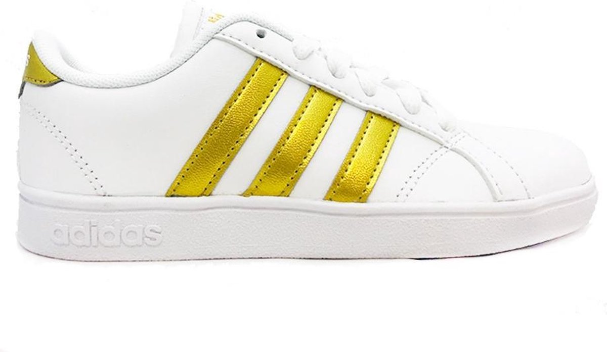 Witte adidas Sneakers Gouden Strepen Baseline K Maat 36 23