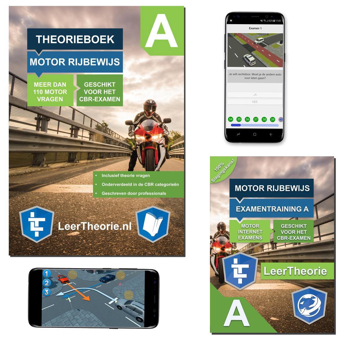 MotorTheorieboek 2021   Rijbewijs A Nederland   Motor Theorie boek met 20 uur Online met 25 CBR theo