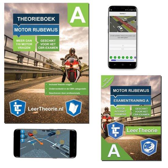Afbeelding van MotorTheorieboek 2020 – Rijbewijs A Nederland – Motor Theorie boek met 20 uur Online met 25 CBR theorie Examens