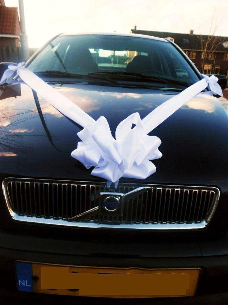 Verbazingwekkend bol.com | Trouwautodecoratie satijn strik wit met zuignap. Plus PV-13