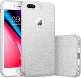 Apple iPhone 8 Plus - Glitters Hoesje Zilver Siliconen TPU Case Backcover - BlingBling
