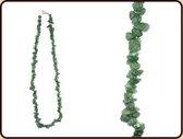Splitketting Agaat groen - Collier