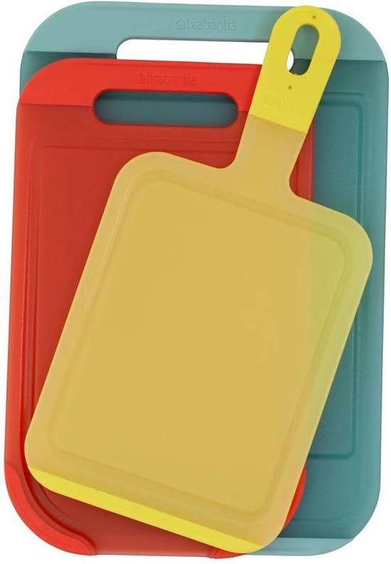 Brabantia Tasty Colours Snijplankset van 3 stuks - Yellow/Red/Mint