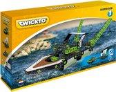 Twickto bouwset - speelvoertuig -  De haven - boten - 237 delig - groen en grijs