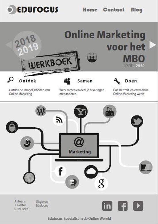 Werkboek online marketing voor het mbo 2018-2019 - Tim Gorter  