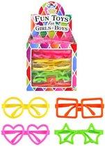 Decopatent® 26 Stuks - Feest Brillen - Kinder fun  - In Traktatiebox - Uitdeelcadeautjes - Traktatie Feestbrillen - Kinderfeest