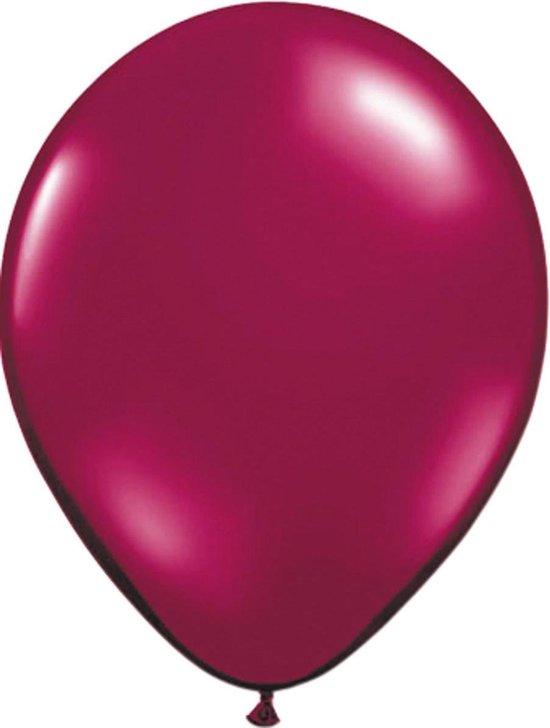 Burgundy  Metallic Ballonnen - 100 stuks