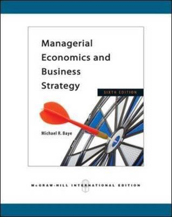 Boek cover Managerial Economics and Business Strategy van Michael Baye (Paperback)