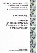 Variation Im Heutigen Deutsch