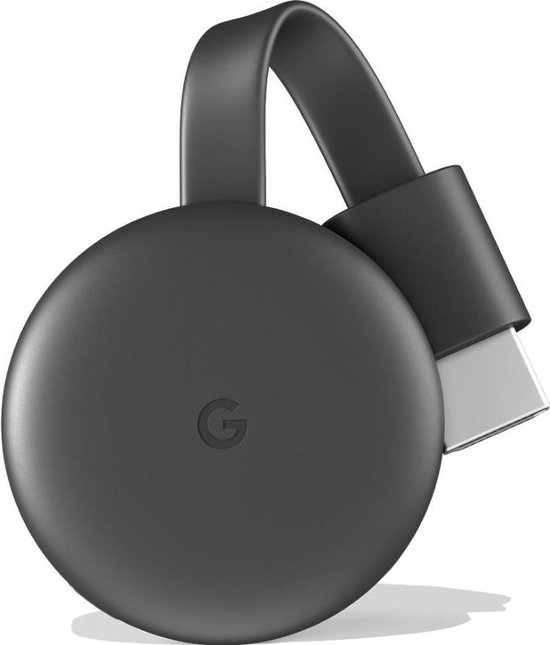 Google Chromecast 3 Smart TV-dongle Full HD HDMI Zwart