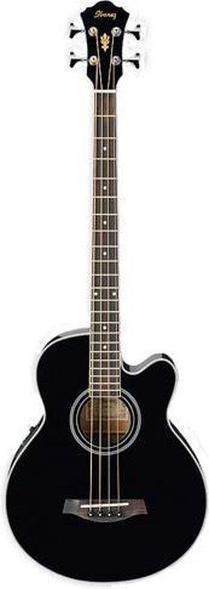 Ibanez AEB8E Black akoestisch-elektrische basgitaar