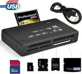 Goodlux Geheugenkaartlezer - All in one kaartlezer - Memorycard reader - CF/TF/MS/M2 - (Micro) SD kaart