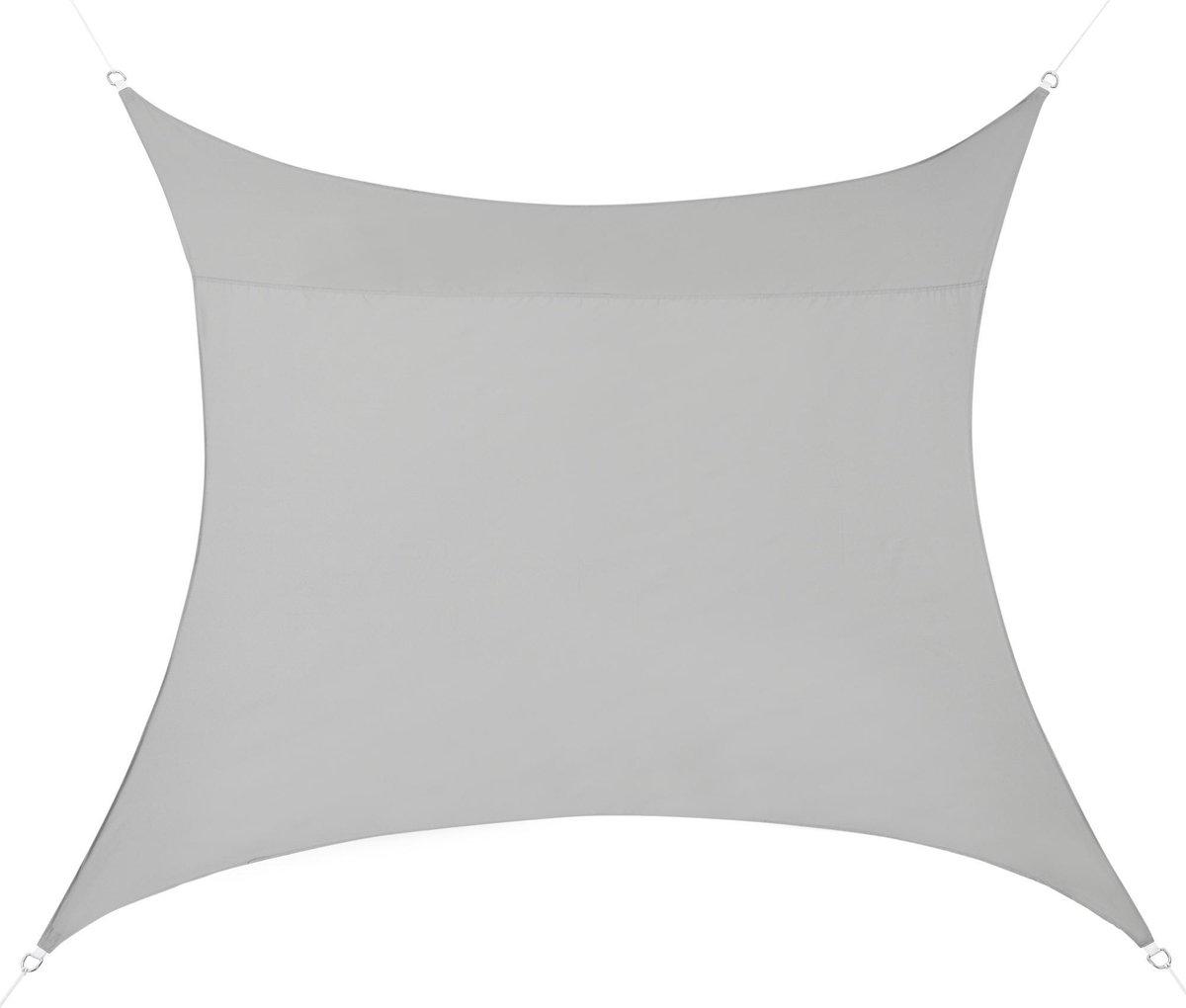 Schaduwdoek - waterafstotend vierkant 3x3 m lichtgrijs