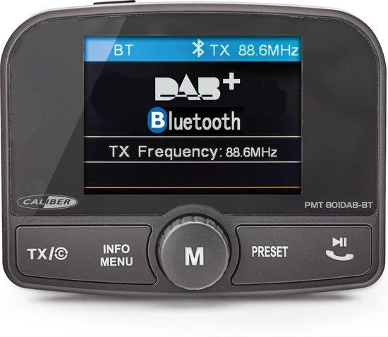 Caliber PMT801DAB-BT- FM transmitter met dab+  en carkit - Zwart