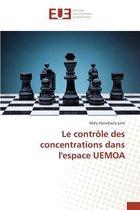 Le Contr le Des Concentrations Dans l'Espace Uemoa