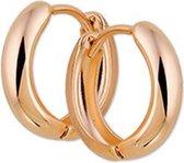 The Jewelry Collection Klapoorringen 3,0 mm Bol - Ros�goud