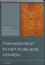 Boek cover Management in het publieke domein van M. Noordegraaf