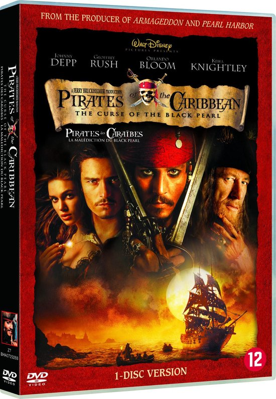 Cover van de film 'Pirates Of The Caribbean: The Curse Of The Black Pearl'