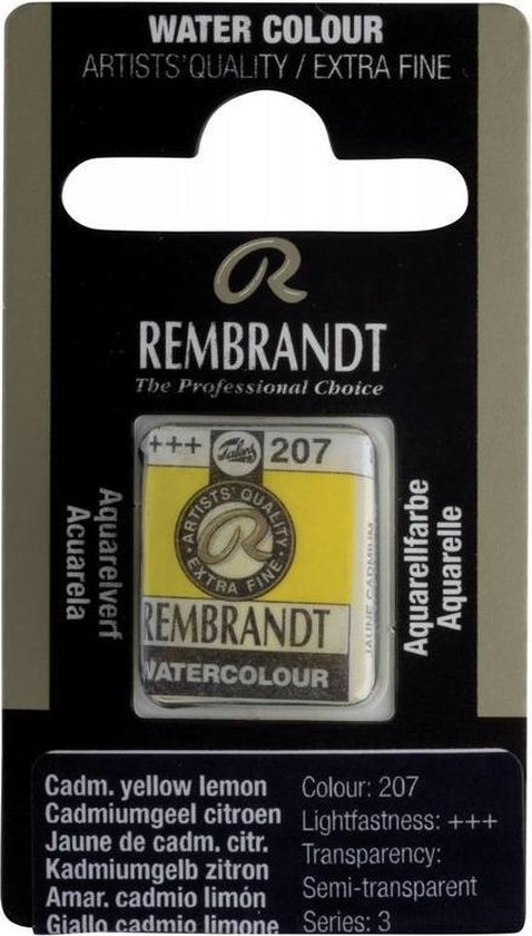 Napje waterverf rembrandt Cadmium yellow lemon (nr. 207)