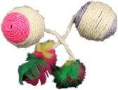 Gekleurde bal met veren