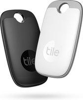 Tile Pro (2022) - Bluetooth Tracker - Keyfinder Sleutelvinder - 2-Pack - Zwart & Wit