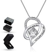 """Luxore® """"I love you to the moon and back"""" Ketting - Cadeautje voor Vrouw – Lie"""