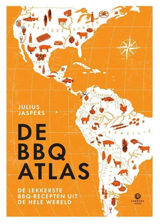 Boek cover Kookatlassen  -   De BBQatlas van Julius Jaspers (Hardcover)