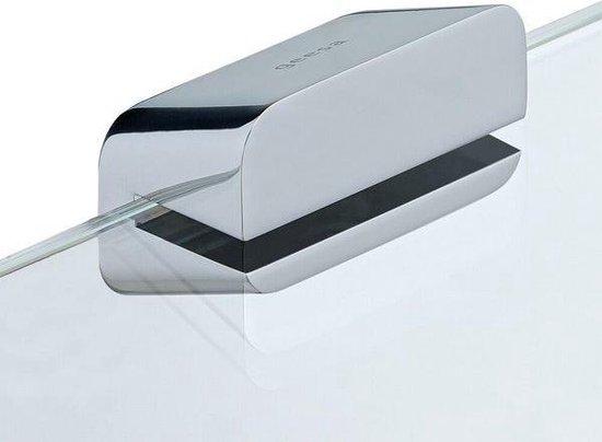 Geesa Shift Toiletrolhouder dubbel Chroom met planchet van transparant glas