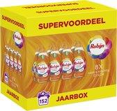 Robijn Klein & Krachtig Color Vloeibaar Wasmiddel - 8 x 19 wasbeurten - Voordeelverpakking