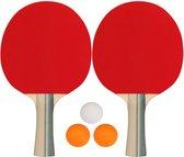 Get & Go Tafeltennisset - 2 Sterren - Rood/Zwart