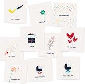 MIX 2 - 10 gevouwen luxe wenskaarten inclusief envelop - ansichtkaart - verjaardag - zomaar - geboorte - verhuizing