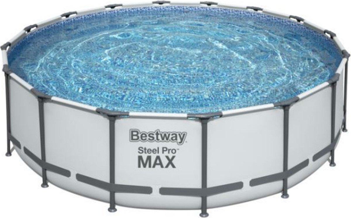 Bestway Steel Pro Max - Zwembad - Ø 488 x 122 cm - DuraPlus materiaal - FrameLink systeem