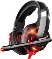 Strex Gaming Headset met Microfoon Rood - PC + PS4 + PS5 + Xbox One