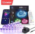 Lideka Led Light strip 10+2 Meter - RGB Smart Led Verlichting - met Afstandsbediening & App - Licht strip
