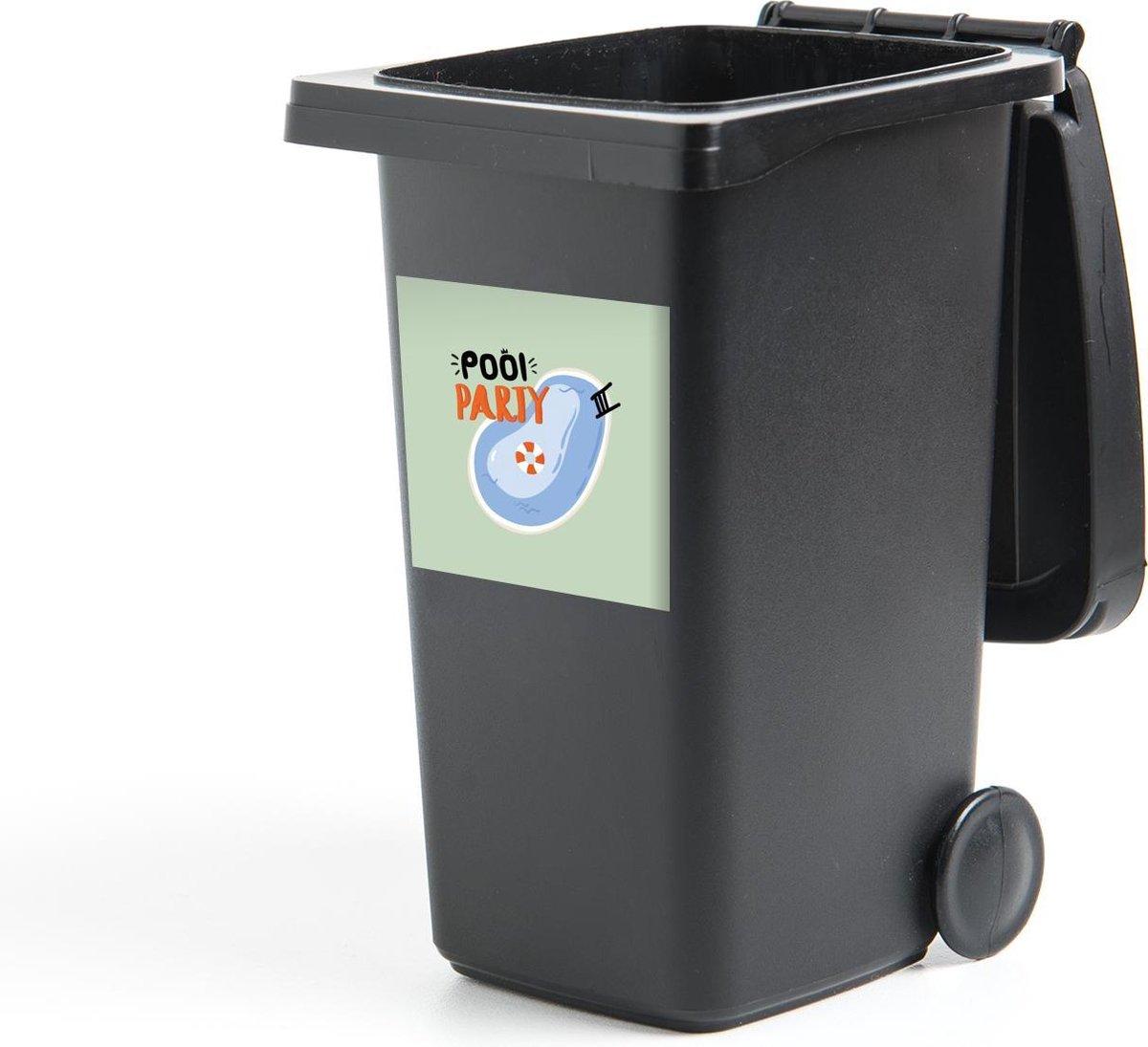 Container sticker Zwemband - Zwembad - Zomer - 40x40 cm - Kliko sticker