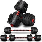 SOUTHWALL dumbell set tot 40kg – halterset – fitness gewichten – verstelbare gewichten - halterstang