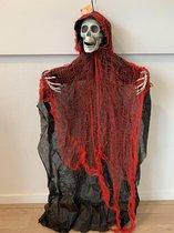 Skelet Zwart Rood Hang 80cm
