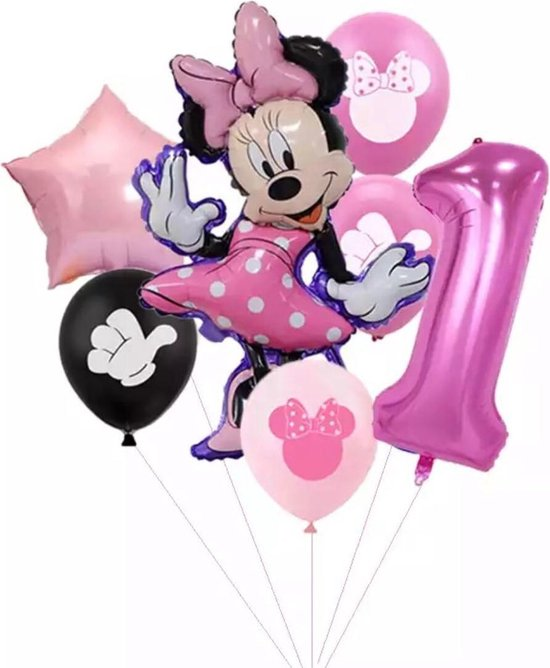 Disney Minnie Mouse 7 stuks  Party Ballonnen 32Inch Nummer 1