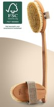 NATURE'S groove® Dry Brushing Huidborstel - Afneembare Steel - 100% Vegan en Natuurlijk - Normale Huid - Duurzaam Hout - Anti Cellulitis Apparaat - Douche en Badborstel - Droogborstel - Doucheborstel Rugborstel - Lichaamsborstel - Cellulite Borstel