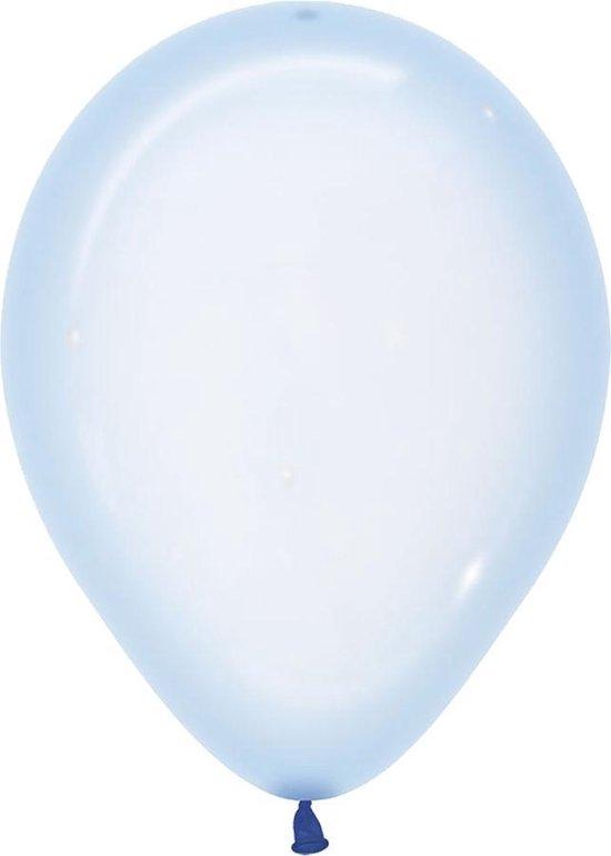 Ballonnen Crystal Pastel Blauw - 5 stuks