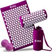 SWILIX ® Spijkermat Met Kussen - Acupressuur Mat - Incl. 2x Triggerpoint Bal - Draagtas -  68x42cm - 303 Total Spijkers