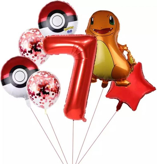 Pokemon Charmander Ballonpakket Droom Thema Party Decoratie nummer 7