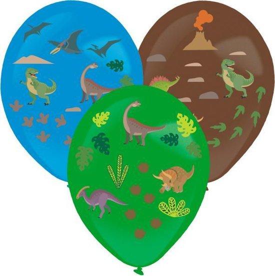 Amscan Ballonnen Dinosaurus Stickers 35,5 Cm Latex 3 Stuks