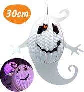 Halloween Decoratie - Spook / Geest – Halloween Versiering – Horror Honeycomb – Spookjes Lampion – Helloween Hangdecoratie - 30x18cm – 1 Stuk