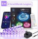 Lideka Led Light strip in 5+1 Meter - 10 mm Breed - RGB - TV USB - met Afstandsbediening - Smart Led Verlichting - Licht strip