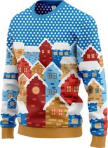 JAP Foute Kersttrui - Christmas eve - Kerst - Dames en heren - Kerstcadeau volwassenen - Inclusief Mini Sweater en Giftbox - L - Blauw